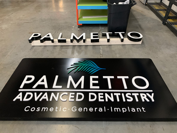 Palmetto Sign Pre-Installation Process at QC Signs Charlotte