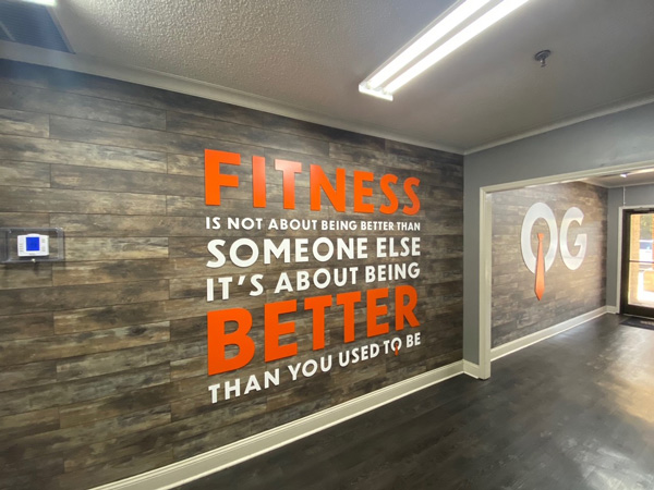 Office wall graphics by QC Signs & Graphics in Charlotte, NC