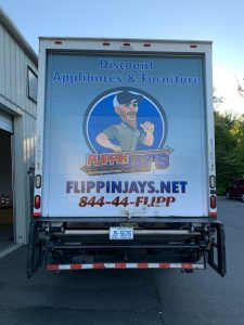Backside truck wraps and decals by QC Signs Charlotte