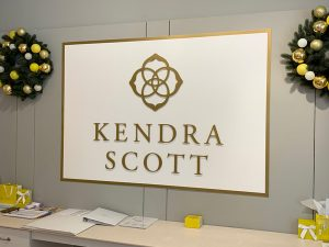Kendra Scott Lobby Signs Custom Made by QC Signs Charlotte