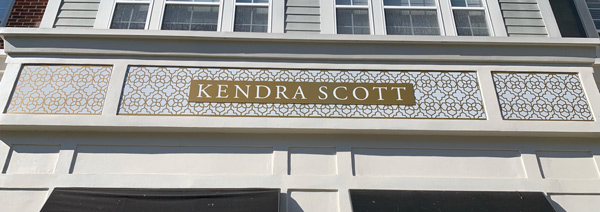 Kendra Scott Outdoor Signs by QC Signs Charlotte