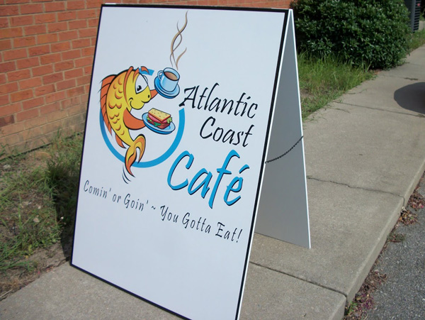 A Frame sidewalk signs with changeable letter in Charlotte, NC
