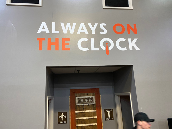 Always On The Clock Wall Decals by QC Signs Charlotte