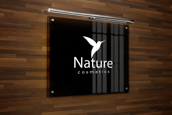 Acrylic Lobby Signs for Nature Cosmetics in Charlotte, NC
