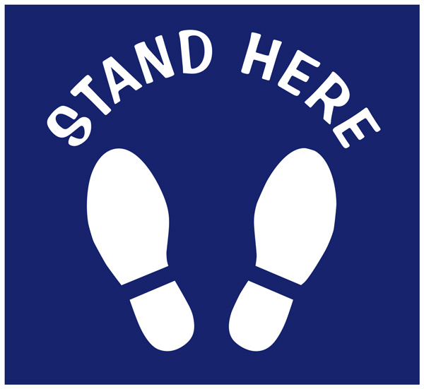 Stand Here Floor Decals in Charlotte