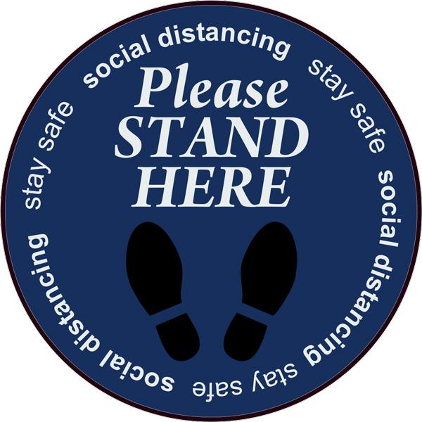 Social Distancing Floor Signs in Charlotte, NC