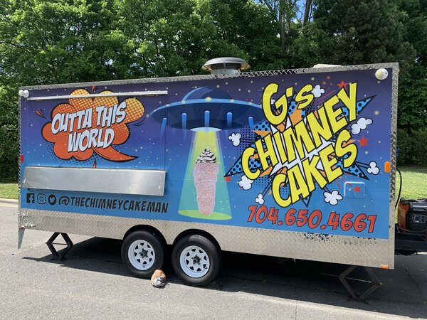 Commercial Trailer Wraps for G's Chimney Cakes in Charlotte, NC