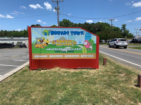 Hounds Town a Doggie Daycare Outdoor Monument Signs Made in Charlotte, NC