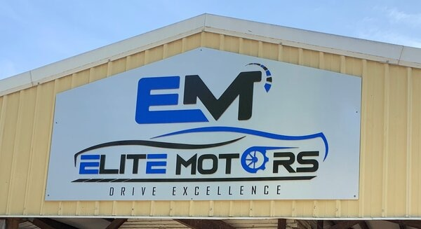 Elite Motors Dimensional Sign Letters Installed by QC Signs & Graphics in Charlotte, NC