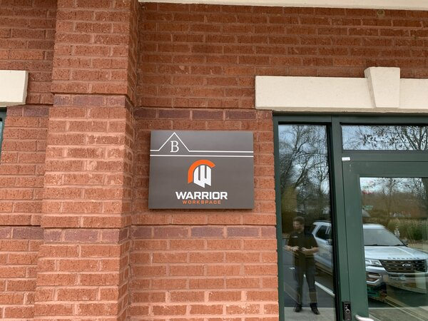 Warrior Workspace Outdoor Signs Made in Charlotte, NC